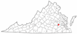 State map highlighting Hopewell