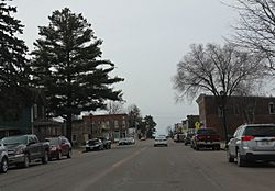 Looking south in downtown Greenwood on WIS73