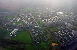 London, Thamesmead, aerial view 03