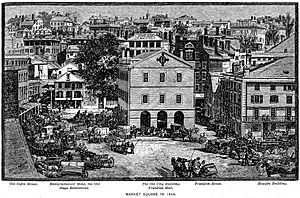 Market Square Providence in 1844