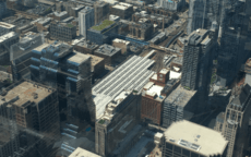 Ogilvie station from the Willis (Sears) Tower