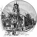St Johns Episcopal Church Providence engraving 1886