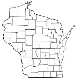 Location of Mitchell, Wisconsin