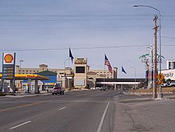 Border between Wendover, Utah and West Wendover, Nevada