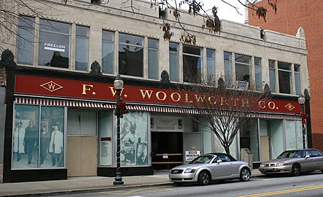 Former Woolworth store in Greensboro, NC (2008)