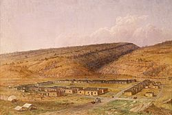 Fort Defiance, New Mexico (now Arizona) by Seth Eastman (1808 - 1875), painted 1873