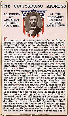 Gettysburg Addres Fact For Kids Paraphrased Sentences
