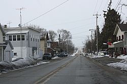 Looking north at downtown Kekoskee