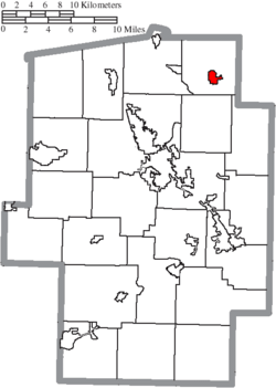 Location of Mineral City in Tuscarawas County