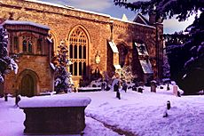 Teddy Hall Library in the snow