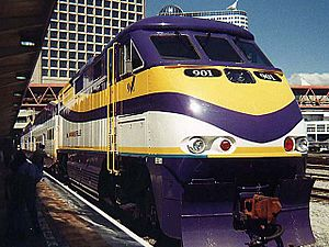 West Coast Express Train №. 901 at Waterfront Station Vancouver BC Canada