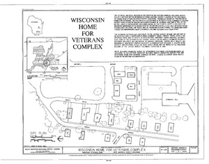 Wisconsin Home for Veterans, King, Waupaca County, WI HABS WIS,68-KING,1- (sheet 1 of 1)