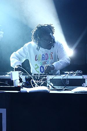 DJ performing with Danny Brown 2014