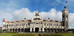 Dunedin Railway Station Full Exterior