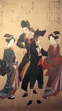 Dutchmen with Courtesans Nagasaki c1800
