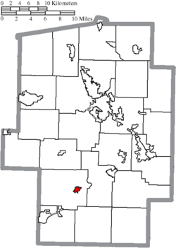 Location of Port Washington in Tuscarawas County