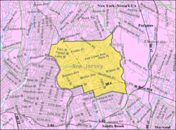 Census Bureau map of Fair Lawn, New Jersey