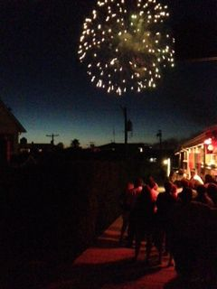 Fireworks at Cherry Grove, Fire Island