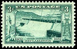 Grand Coulee Dam Issue 3c 1952 issue
