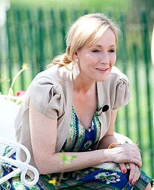 Rowling at the White House Easter Egg Roll, 2010