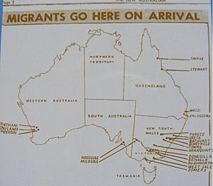 Map of Migrant Camps in Australia