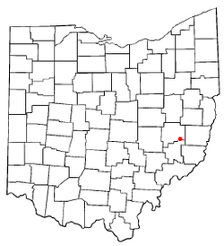 Location of Salesville, Ohio