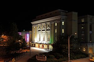 Carolina Theatre at night