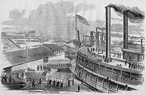 Embarkation of General McClernand's Brigade at Cairo