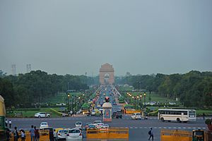 India Gate seen from Raisina Hill