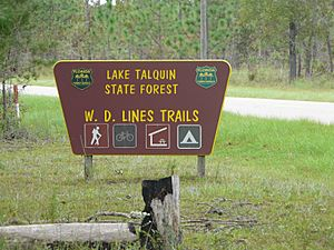 Lake Talquin State Forest W.D. Lines Trails Entrance Sign