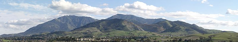 Mount Diablo Panoramic From Newhall