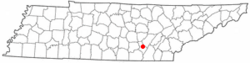 Location of Dunlap, Tennessee