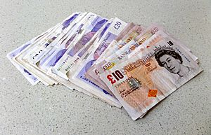 British-pound-notes-on-table