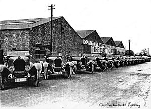 Cubitt Car Factory c.1922 at Great Southern Works, Aylesbury
