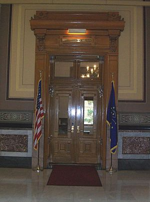 Entrance to the office of the Governor of Indiana, Indiana Statehouse, Indianapolis, Indiana