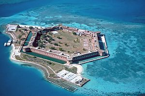 Fort Jefferson is no longer in use as a military facility and is currently part of the Dry Tortugas National Park.