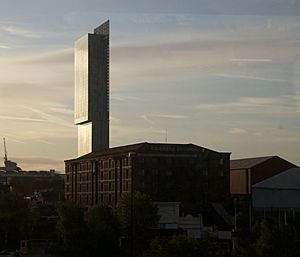 Granada Studios Building and Beetham Tower in Manchester