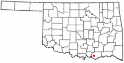 Location of Calera, Oklahoma