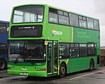 Penzance Bus Station - First 33143 (LR02LWY) (cropped)