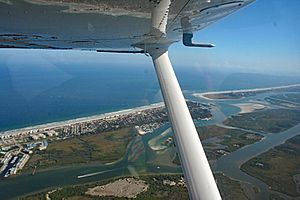 Aerial view of Ponce Inlet, Florida, 2007-12-12