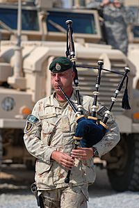 Afghanistan bagpiper