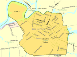 Census Bureau map of Salem, New Jersey