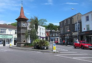 Clevedon clock tower North Somerset England arp