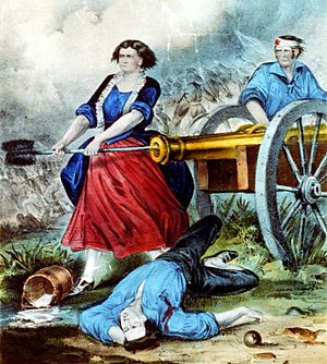 Molly Pitcher currier ives