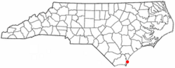 Location of Wilmington Beach, North Carolina