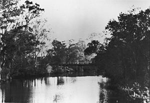 StateLibQld 1 107908 Bridge over Tingalpa Creek, Brisbane, 1936