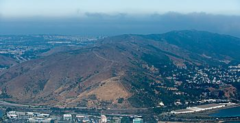 Aerial view of San Bruno Mountain