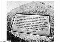 Commemoration plaque at Rosetta Head, South Australia (State Library of South Australia PRG280 1 12 377)