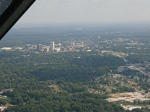 Greenville aerial skyline