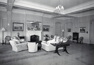 Queensland State Archives 1479 View of Government House Reception Room 11 May 1950